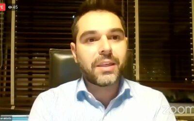 Ο Γ. Σαρακιώτης στη διαδικτυακή εκδήλωση του ΣΥ.ΡΙΖ.Α Μαγνησίας με εμπόρους και επιχειρηματίες