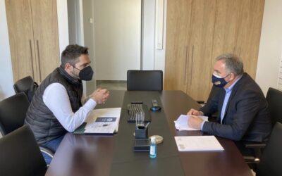 Με το Δήμαρχο Λαμιέων έκλεισε τον κύκλο των συναντήσεων εργασίας με τους Δημάρχους της Φθιώτιδας ο Γ. Σαρακιώτης